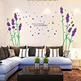 Decals Arts 3D Beautiful Purple Lavender Wall Stickers