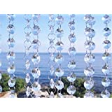 Magnificent 16 Feet Crystal Acrylic Gems Bead Strands, Manzanita Crystals, Tree Garlands, Christmas Decoration, By CrystalPlace