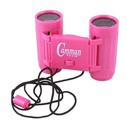 2.5 X 26 Binoculars Mini Children Telescopes Portable Toy Pink