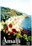 Vintage Poster Shop Vintage Amalfi Coast Italy Travel Poster A3 Reprint