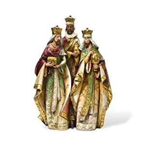 Department 56 Golden Nativity Christmas Collection Figurine, Three Kings, 12-Inch