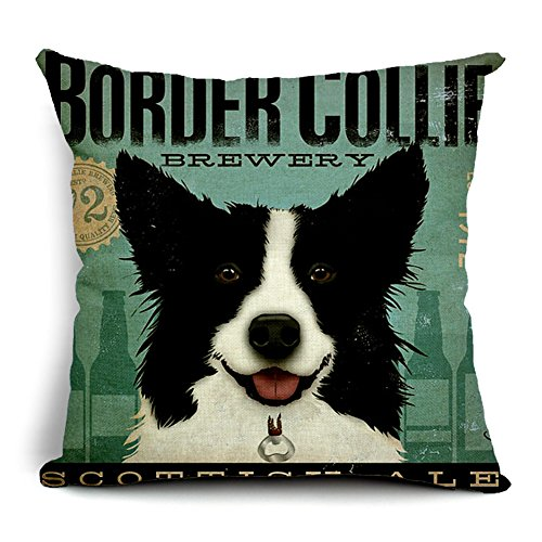 poens-dream-housse-de-coussin-retro-vintage-border-collie-printed-cotton-linen-decorative-pillow-cus