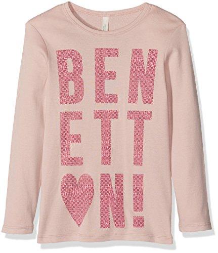 benetton-madchen-t-shirt-3c78c12v4-gr-7-8-jahre-herstellergrosse-m-rosa-lilac