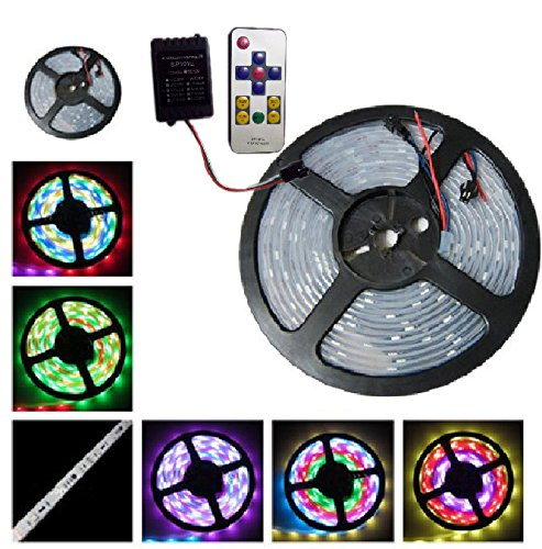 Hkbayi 5M Ws2811 50 Ics 5050 Digital Rgb Strip 150Led Ip67 Tube Waterproof Dream Magic Color 12V Led Strip 30Led/M With Controller