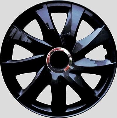 Radkappen schwarz 14 Zoll 1 Satz (4 Stück) mit Chromring von Autoteile024 auf Reifen Onlineshop