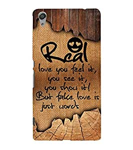 Real Love You Feel it 3D Hard Polycarbonate Designer Back Case Cover for Sony Xperia C6 Ultra