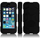Tigerbox® Shock / Dust Proof Armoured Full Body Protector Case Cover With Built in Screen Guard For Apple iPhone 5 / 5s - Black