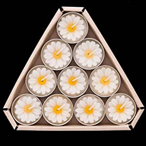 Daisy Tea Lights White Scented