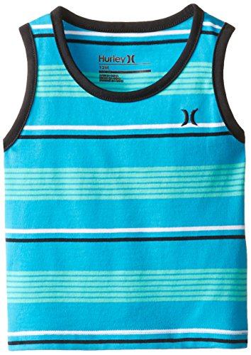 Hurley Baby Boys' Striped Tank Blue Lagoon chris hurley wardriving drive detect defend