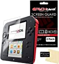 [3 Pack] TECHGEAR® NINTENDO 2DS Top & Bottom CLEAR LCD Screen Protector Guards with Cleaning Cloth & Applicator Card - (3x Top & 3x Bottom)