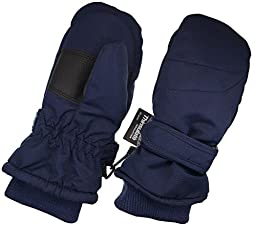 Children Toddlers and Baby Mittens Made With Thinsulate,and Fleece - Winter Waterproof Gloves By Zelda Matilda, Navy, 2 - 3 Years