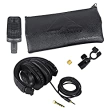buy Package: Audio Technica Ae 3000 Cardioid Condenser Instrument Microphone + Audio Technica Ath-M30X Professional Studio Monitor Collapsible Headphones