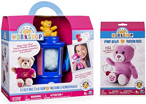Build-A-Bear Workshop Stuffing Station and Pink Bear Refill Pack 2 Piece Bundle (Build A Bear Bundle compare prices)