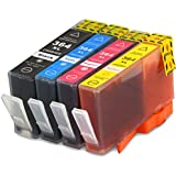 4 Druckerpatronen kompatibel für HP 364 XL 364XL Set mit Chip und Füllstand
