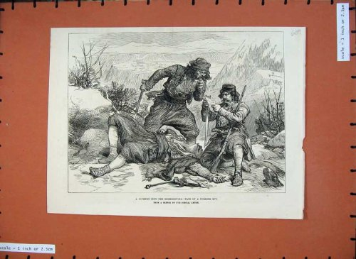 1876 Herzegovina Dead Man Turkish Spy Weapons Print