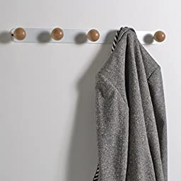 La Redoute Interieurs Agama 5-Hook Birch And Metal Coat Rack White Size One Size