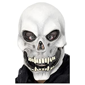 Adult Mens Skull Overhead Mask Halloween Smiffys Fancy Dress Costume- One Size by Smiffys