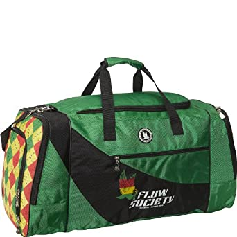 (FS16016) Flow Society Argyle Duffle Bag in Green