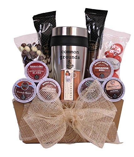 Common Grounds - K-Cup Coffee Lover's Gift Basket (Keurig Coffee Gift Basket compare prices)