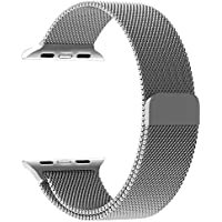 Penom 38mm Stainless Steel Mesh Loop Milanese Band with Magnetic Clasp
