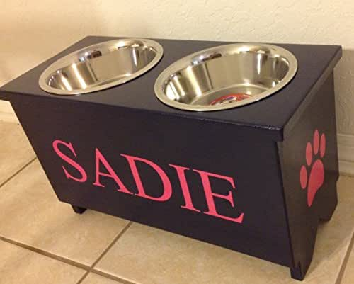 Amazon Com Large 2 Quart Dog Bowl Stand Handmade