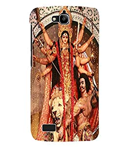 Fuson 3D Printed Lord Durga Designer Back Case Cover for Huawei Honor Holly - D507