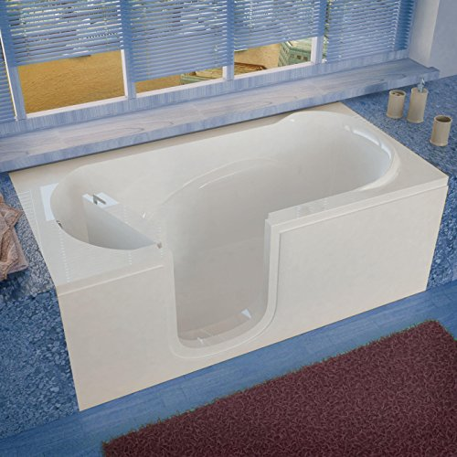 Best Prices! Spa World Venzi Vz3060silws Rectangular Soaking Walk-In Bathtub, 30x60, Left Drain, Whi...