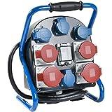 as - Schwabe 60904 Tragbarer Stromverteiler CEE VTG9 FiL 25.25.4S, IP44 Gewerbe, Baustelle