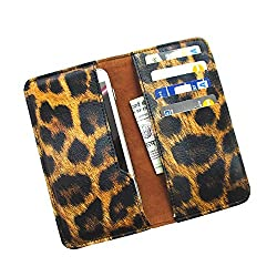 i-KitPit : PU Leather Wallet Flip Pouch Case For Samsung Galaxy Grand 2 (BLACK & BROWN SHADE)