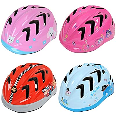 Physionics Kids' Bicycle Helmet (Various Designs) Safety Adjustable Bike Helmet Children's Boys' Girls' Cycling Skating Scooter Helmet by Physionics