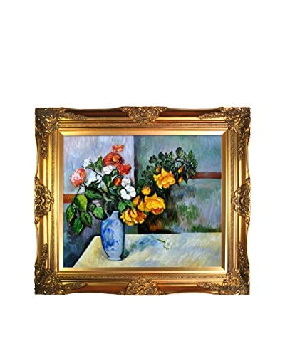 Paul Cézanne Still Life Flowers In Vase Framed Canvas