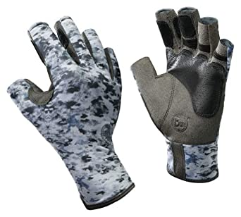 Buff Pro-Series Angler Gloves Color: Fish Camo, Size: XL/XXL