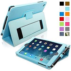 Snugg ® - Étui Pour iPad Mini & Mini 2 - Smart Case Avec Support Pied Et Une Garantie à Vie (En Cuir Bleu Clair) Pour Apple iPad Mini & Mini 2