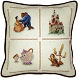 MCG Textiles Beauty and the Beast Pillow, 14x14