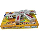 SuperToy(TM) Space Gun Toy With LED Matrix Flashing Rotating Blades (Color May Vary)