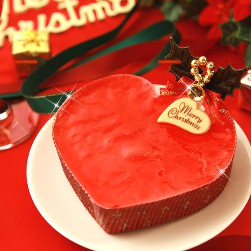 クリスマスケーキ 静岡産 苺を使用 ストロベリーハートケーキ