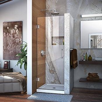 DreamLine Unidoor 30 in. Width, Frameless Hinged Shower Door, 3/8