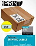 """1000 Half Sheet - Best Print Shipping Labels - 5-1/2"""" x 8-1/2"""" (Same size as Avery® 5126)"""