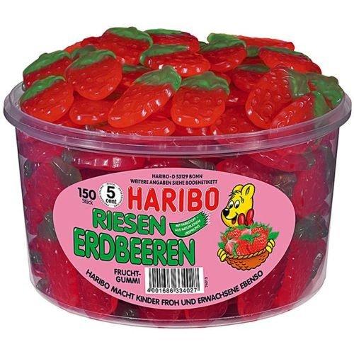 Haribo Riesen Erdbeer Fruchtgummi (150 Stck.)