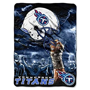 NFL Tennessee Titans 60-Inch-by-80-Inch Plush Rachel Blanket, Sky Helmet Design by Northwest