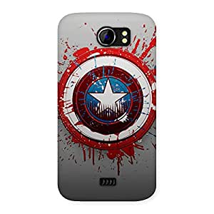 Premium Blood Red Round Back Case Cover for Micromax Canvas 2 A110