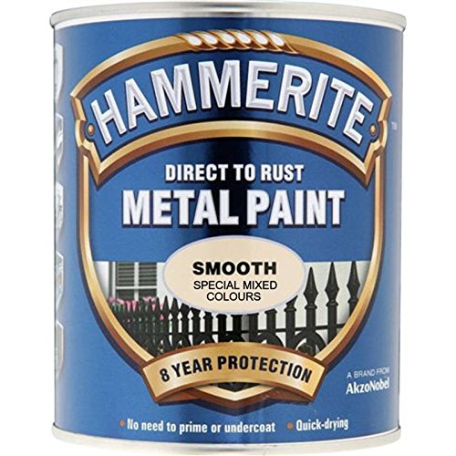 Hammerite Direct to Rust Metal Paint Smooth Finish Blue Slate 750ml
