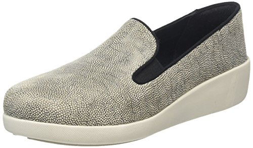 Fitflop F-Pop Skate, Mocassini Donna, Multicolore (Stone Pebbleprint), 38 EU
