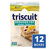 Triscuit Reduced Fat Crackers, Non-GMO, 7.5 Ounce (Pack of 12)