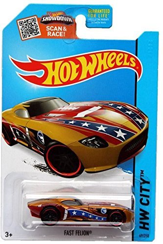 Hot Wheels, 2015 HW City, Treasure Hunt Fast Felion [Bronze] Die-Cast Vehicle #69/250 - 1