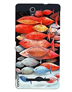 Omnam Group Of Fishes Printed Designer Back Cover Case For Sony Xperia C3