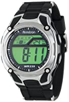 Armitron Men's 408125BLK Chronograph Black Strap Digital Display Sport Watch by Armitron