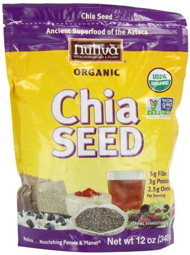 Nutiva  Organic Chia Seeds, 12-Ounce Bag