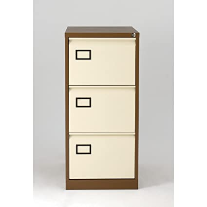 Bisley Coffee Cream 3 Drawer Contract Filing Cabinet,Bisley