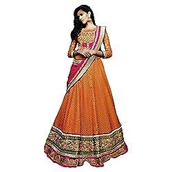 Triveni Art Silk Lehenga Choli (TSXHB501_Orange)